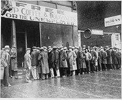 Bread Line During Depression